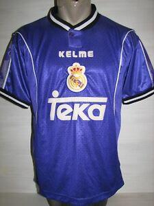 483c44057 A imagem está carregando Real-Madrid-1997-98-Camisa-Away-Kelma-Camisa-