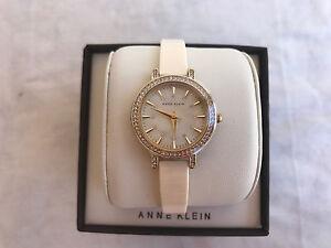 e1488d0dd02 NWT Anne Klein AK/2180IVGB Gold-Tone and Ivory Ceramic Watch ...