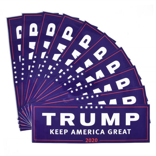 10X Donald Trump for President Make America Great Again 2020 Bumper Sticker Blue