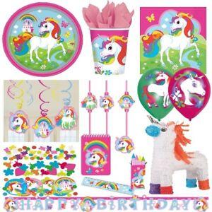 Unicorn regenbogen einhorn alles zum kindergeburtstag party deko geburtstag ebay - Einhorn party deko ...