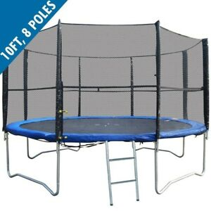 Replacement-Trampoline-Safety-Net-10FT-8-Pole-Enclosure-Surround-by-BodyRip