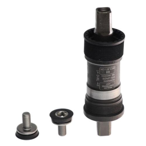 Shimano BB-UN26 68x110//113//117.5//123mm Square Taper Bottom Bracket Black New