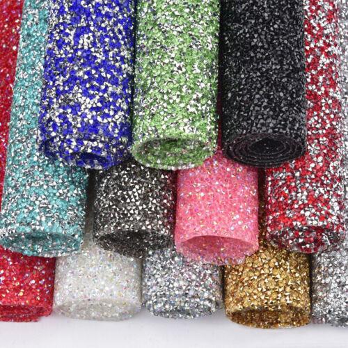 24*40cm Crystal Rhinestone Gems Bling Stickers Sheets Heat Gluing  DIY Crafts