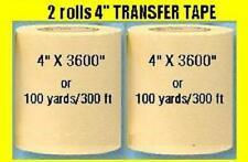 2 Rolls 4 Application Transfer Paper Tape 300 Ft Roll For Vinyl Plotter Cutter