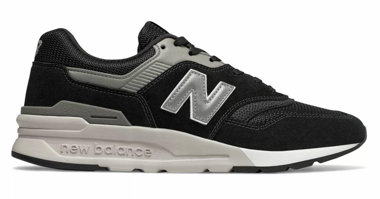 997H para hombre CLASSICS New Balance Zapatos Negro Plateado CM997HCC D