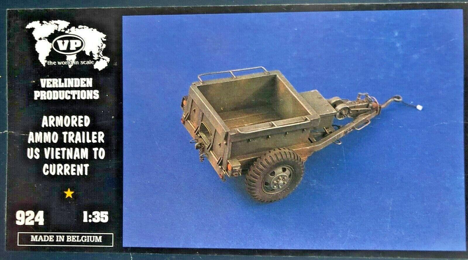 1 35 924 verlinden armored ammo trailer us vietnam to current. new