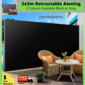 Outdoor Retractable Side Awning Privacy Screen Sun Shade ...
