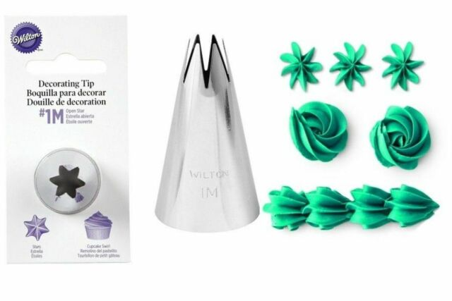 Wilton Open Star Tip #1M Icing Decorating Nickel Plated Brass Fits Large Coupler