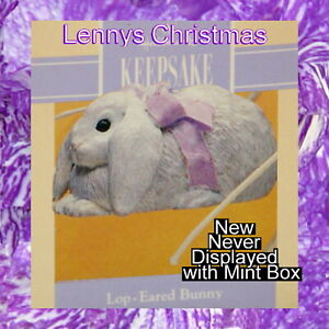 Details About Hallmark Ornament Easter 1993 Lop Eared Bunny New