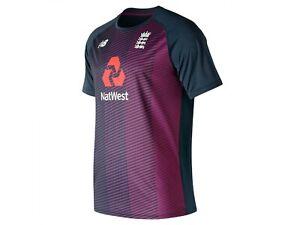 New Balance Mens England Cricket T20 Tee Top T-Shirt T Shirt 2019