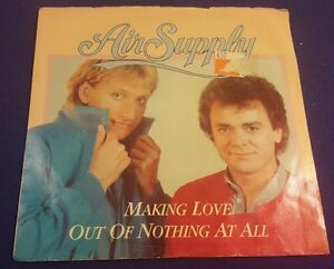 AIR-SUPPLY-Making-Love-Out-Of-Nothing-At-All-Late-Again-45-Record-Arista-Records