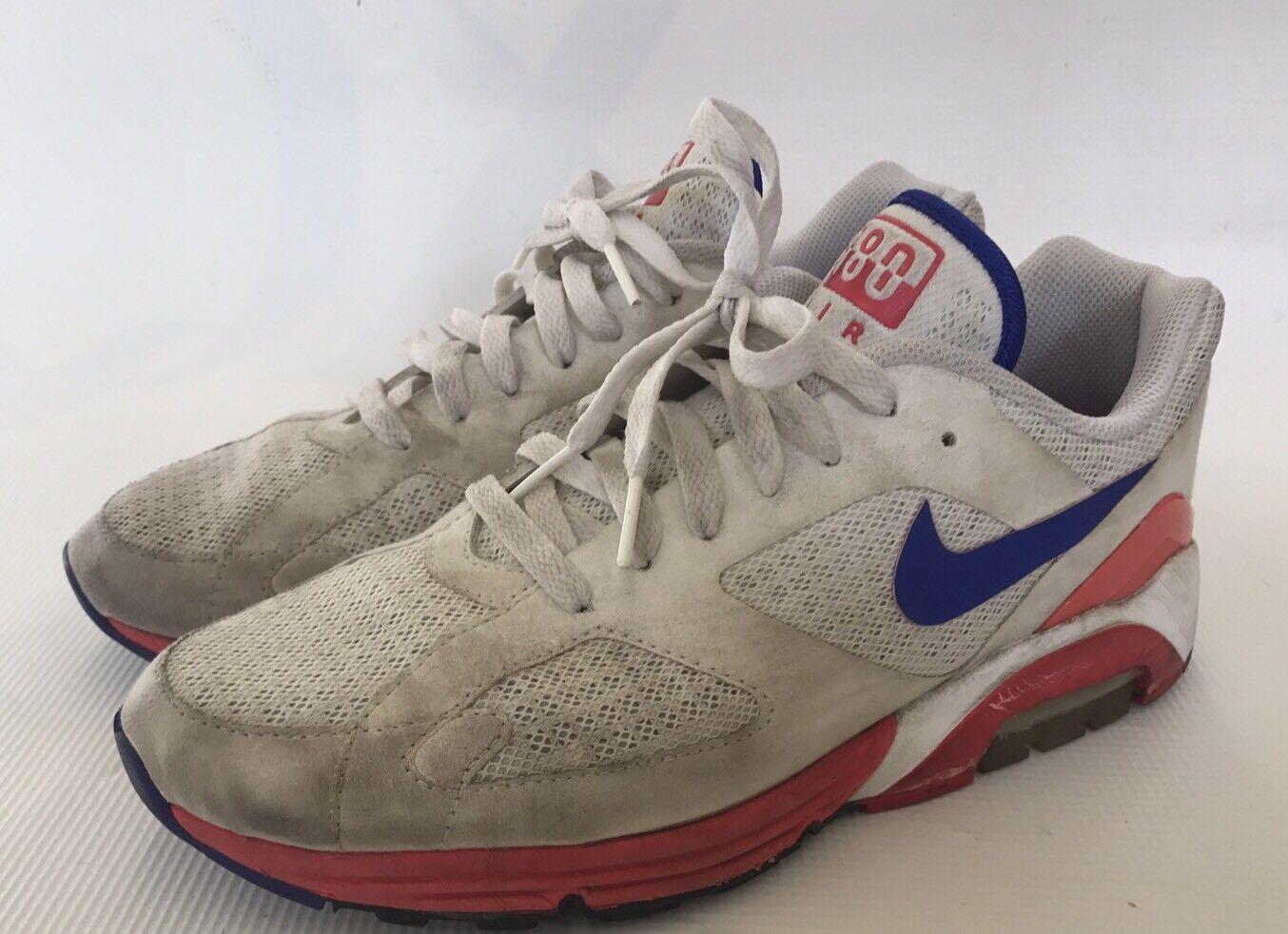 Nike Air Max lunar 180 hombres' s raro Corriendo Zapatos 8,5 Ultramarine raro s usado 6b1704