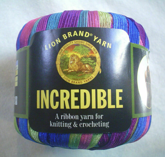 Carnival 46367 NEW Incredible Lion Brand Ribbon Yarn For Knit /& Crochet