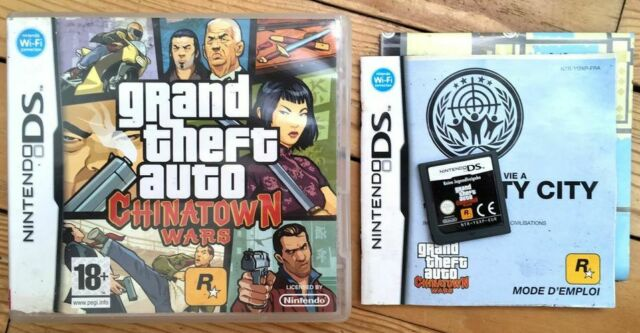 GRAND THEFT AUTO CHINATOWN WARS COMPLET BOÎTE NOTICE NINTENDO DS PAL FRA CIB OVP