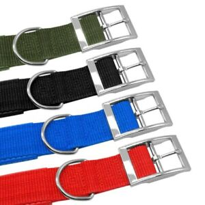 Adjustable-Nylon-Dog-Neck-Strap-for-Large-Medium-Puppy-Pets-Sponge-Buckle-Collar
