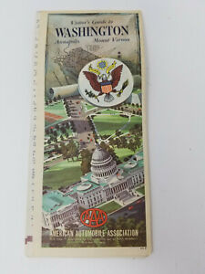 Vintage-1966-1967-AAA-Visitor-039-s-Guide-to-Washington-DC-Annapolis-Mount-Vernon