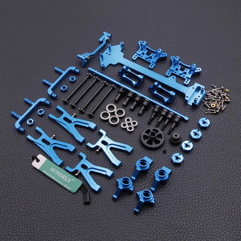 UK WLtoys 1 18 A949 A959 A969 A979 K929 Upgraded Metal RC Car Parts DIY Kit bluee