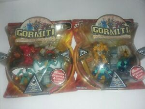 2008-PLAYMATES-SERIES-1-GORMITI-4-FIGURE-amp-GAME-CARDS-SET-SEALED-lot