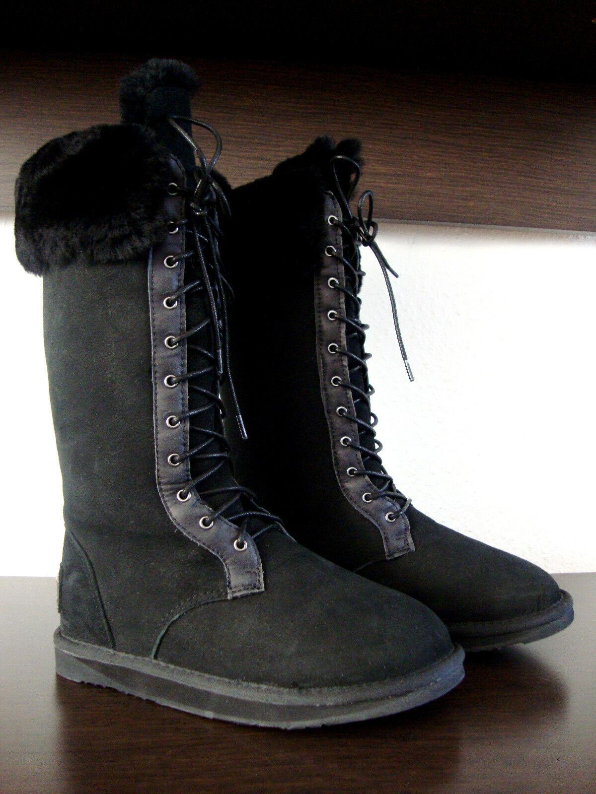 Australia Luxe zapatos Montana Tall botas señora botas Negro zapatos Luxe de piel nuevo 37bc61