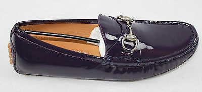 AUTH Gucci Women Vernice Crystal Flat Shoes