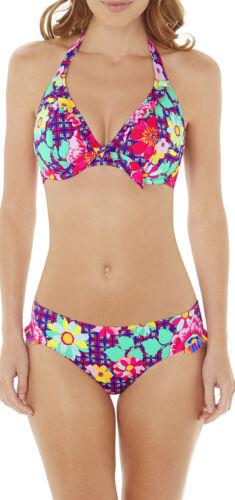 Multi Lepel Swim LE157162 Sun Kiss Halterneck Bikini Top in Pink