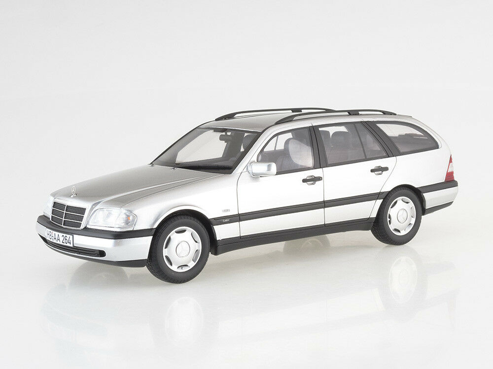 Scale Modelll 1 18 Mercedes C220 T-Modell (S202), Silber