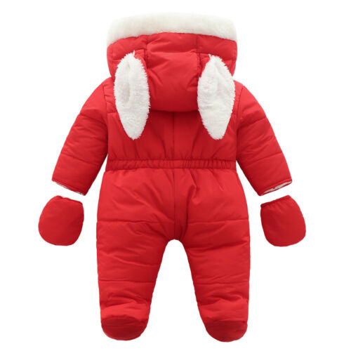 Infant Baby Girls Boys Romper Winter Hooded Outerwear Snowsuit Outfits Jumpsuit