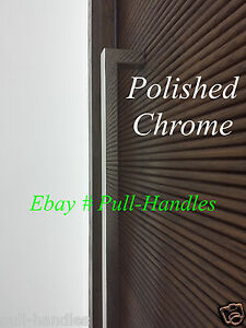 Details About Door Pull Handle Modern Square Polished Chrome Door Entry  Entrance Large Knobs