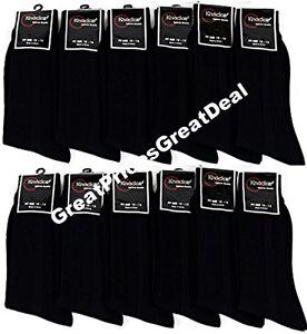 Dress-Socks-All-Black-12-Pairs-Mens-Socks-Size-10-13-Formal-Wear-Comfort-Knocker