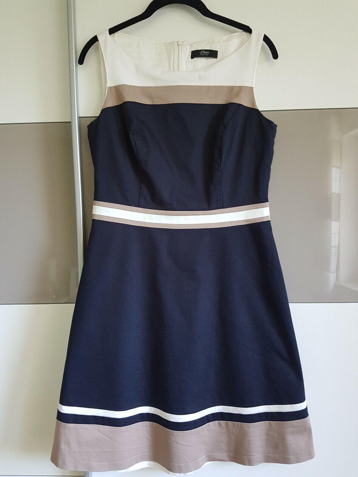 Kleid im Farbe-blocking-Design von s.Oliver Gr. 36 aktuelle Kollektion