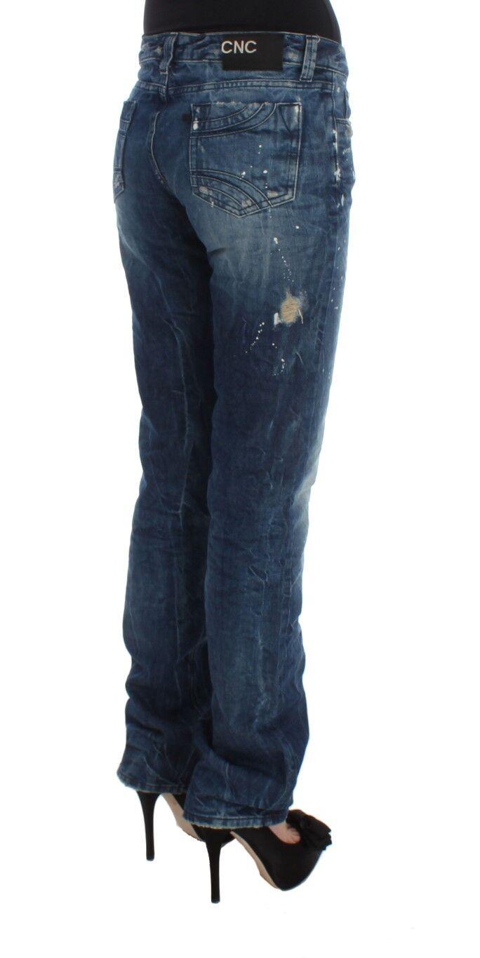 NUOVO COSTUME NATIONAL C E E E C pantaloni jeans cotone blu regular fit DENIM S.W26 0f9975