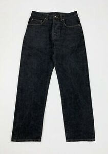 Calvin-klein-jeans-uomo-usato-gamba-dritta-W30-tg-44-denim-boyfriend-nero-T5566