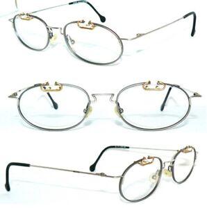 P-A-S-S-de-Boss-Gafas-Azules-Titanio-Oro-sol-Mujer-Hombre-Vintage-NOS