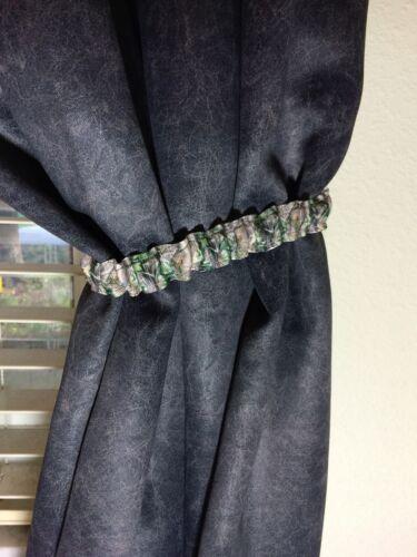 2 NEW Mossy Oak Curtain Tie Backs Set GetTheGoodStuff