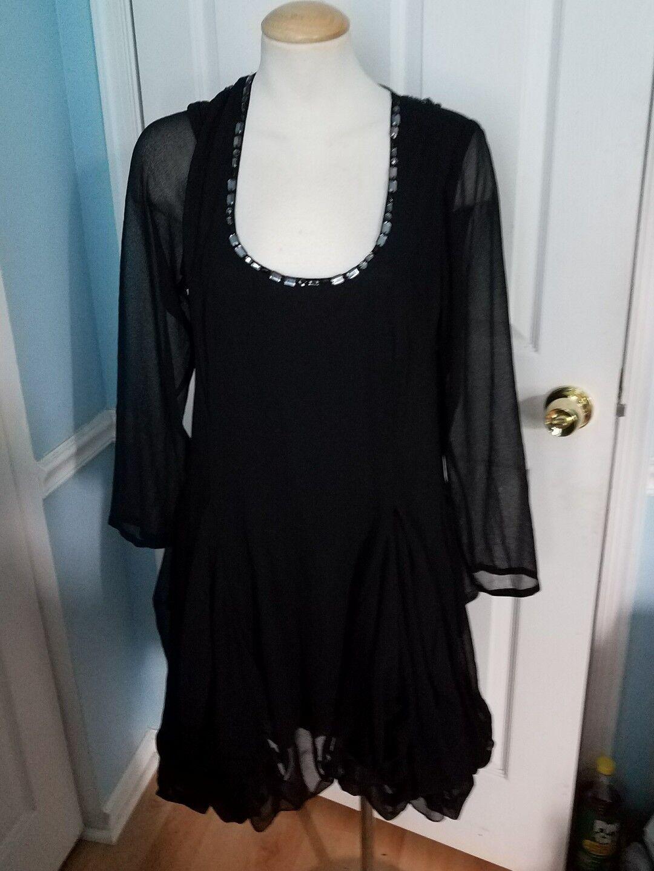 Silk threads l tunic dress.