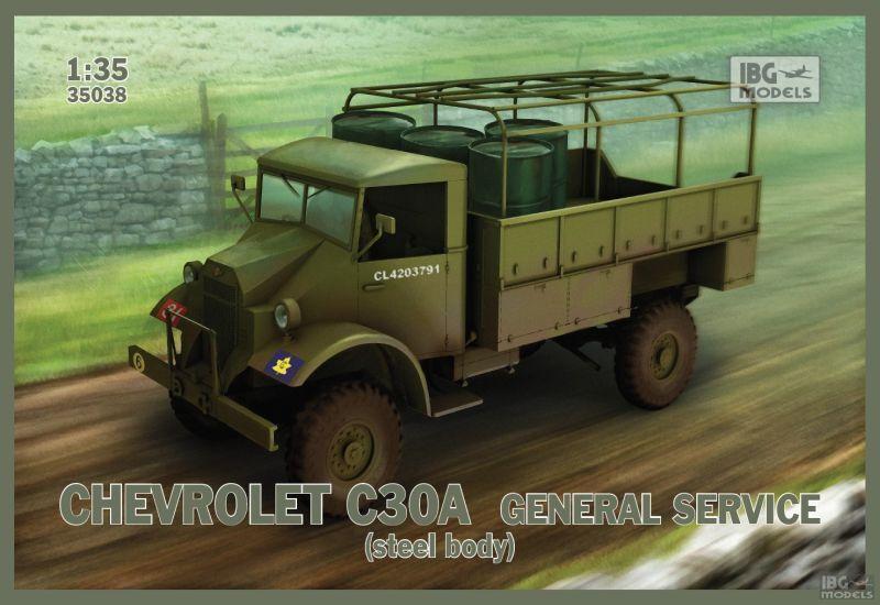Camion US. CHEVROLET C30A, WW2  - KIT IBG Models 1 35 n° 35038