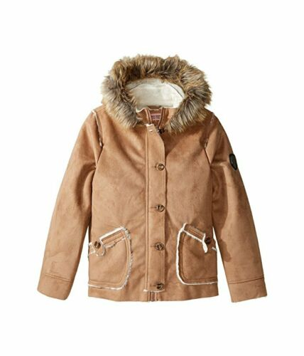 Urban Republic Girls Faux Fur Faux-Suede Jacket in Light Brown 1037 Size 5//6
