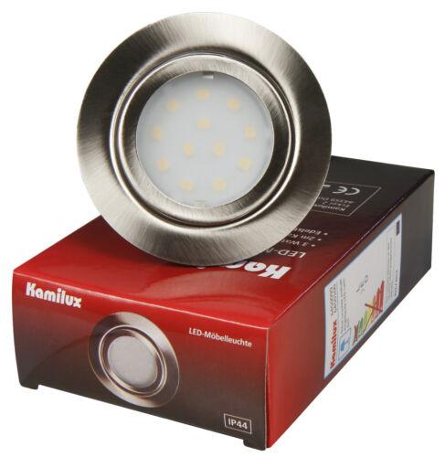 LED Möbelleuchte Möbeleinbauleuchte 3Watt 12Volt DC Rostfrei Strahler Möbellicht