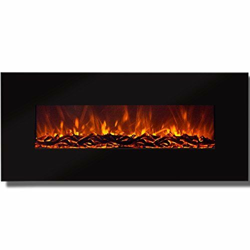 """Best Choice Products 50"""" Electric Wall Mounted Fireplace Heater Smokeless Heat"""