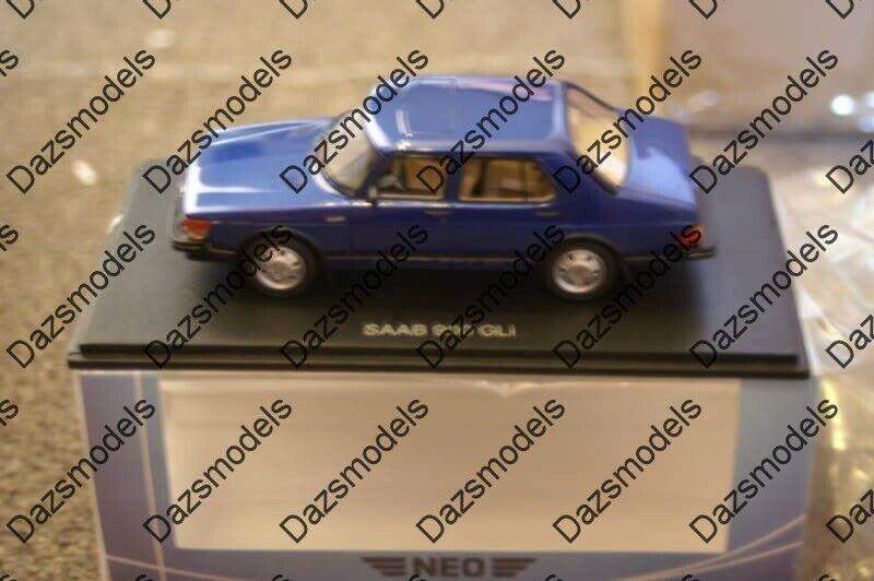 Neo Saab 900 Gli blu 1 43 escala 43652