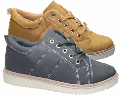 chaussures taille Femme Lacets Trainer plates confort Casual réveil c