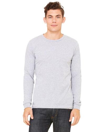 2XL Bella Canvas Mens Long Sleeve Jersey T-Shirt Long Sleeve Tee S 3501