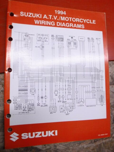 1994 Suzuki Atv  U0026 Motorcycle Original Factory Wiring Diagrams Manual Service