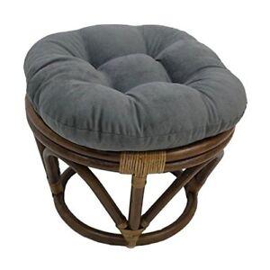 Marvelous Details About International Caravan Bali Rattan Papasan Cushion Stool Black Short Links Chair Design For Home Short Linksinfo