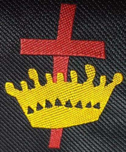 Masonic Knight Templar Silk Necktie with machine embroidery Logo
