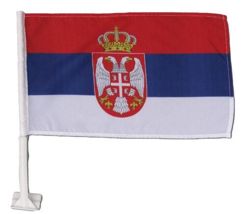 "2 Pack Serbia Country Car Window Vehicle 12x18 12/""x18/"" Flag"