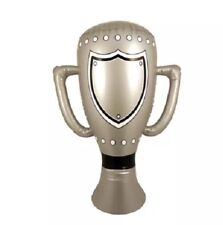 INFLATABLE TROPHY PRIZE 60CM BLOW UP HEN FANCY DRESS PARTY PLAY TOY MEDAL CLAIM