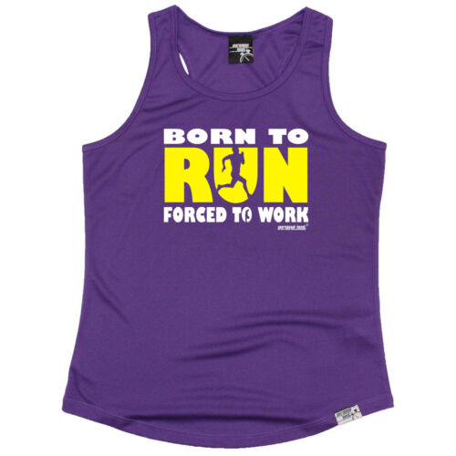 Running Débardeur Drôle Femme Sports Performance Singlet-Born to Run