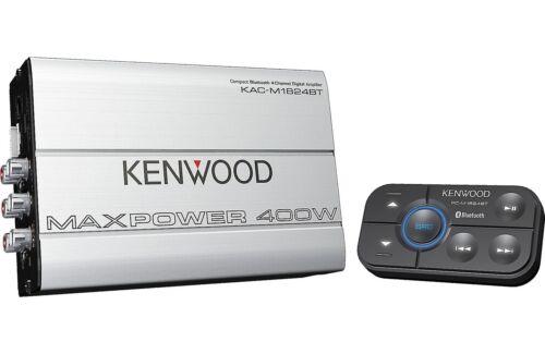 Kenwood 400W Compact Bluetooth 4-Channel Class D Digital Amplifier KAC-M1824BT