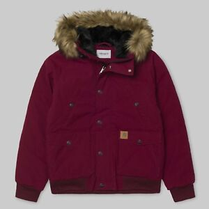 look out for cute cheap sale online Details about CARHARTT TRAPPER PARKA JACKET - MULBERRY/BLACK - RRP £220.00